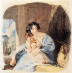 children art - mother with her children by thomas sully