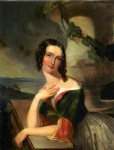 thomas sully famous paintings - portrait of elizabeth wharton mrs. william j. mccluney by thomas sully