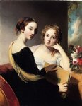 thomas sully portrait of misses mary and emily mceuen painting