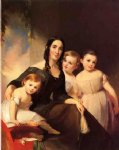 portrait of mrs. james robb and her three children by thomas sully posters