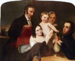 portrait watercolor paintings - the alexander family group portrait by thomas sully