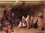 thomas waterman wood famous paintings - the village post office by thomas waterman wood