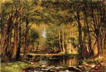thomas worthington whittredge art - a catskill brook ii by thomas worthington whittredge