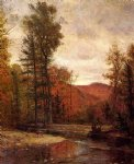 thomas worthington whittredge art - adirondack woodland with two deer by thomas worthington whittredge