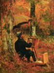 thomas worthington whittredge acrylic paintings - an artist at his easel by thomas worthington whittredge