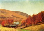 thomas worthington whittredge art - autumn landscape vermont by thomas worthington whittredge