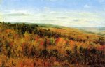 thomas worthington whittredge art - autumn landscape by thomas worthington whittredge