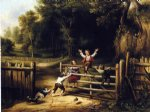 thomas worthington whittredge acrylic paintings - happy as a king by thomas worthington whittredge