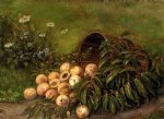 thomas worthington whittredge acrylic paintings - still life with peaches by thomas worthington whittredge