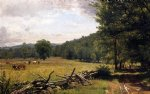 the meadow by thomas worthington whittredge painting