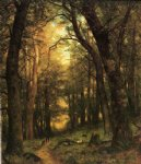 thomas worthington whittredge acrylic paintings - the old hunting ground by thomas worthington whittredge