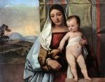 titian watercolor paintings - gipsy madonna by titian
