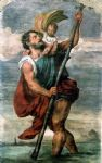 titian watercolor paintings - saint christopher by titian