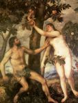 titian watercolor paintings - the fall of man by titian