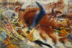 umberto boccioni acrylic paintings - city by umberto boccioni