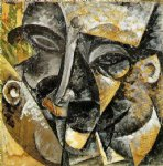 umberto boccioni acrylic paintings - dynamism of a man s head by umberto boccioni
