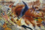 umberto boccioni acrylic paintings - the city rises by umberto boccioni
