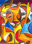 african abstract art 2 painting