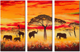 unknown artist african animals group art 1 painting