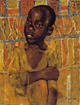 african boy painting 86288