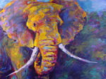 african elephant 1 painting