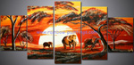 african elephant group art 4 painting