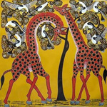 african giraffe paintings 86307