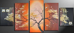 tree acrylic paintings - african trees group art 2 by unknown artist