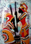 vintage original paintings - african vintage tribal by unknown artist