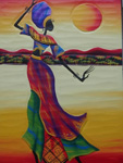 african women dancing headscarfed prints