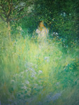 carl larsson fairy kersti and the meadow painting