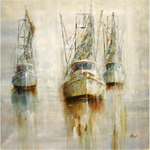 custom art shrimp boat painting-86867