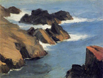 edward hopper rocky sea shore paintings
