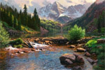 rocky mouintain grandeur by mark keathley painting