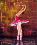 unknown artist ballerina painting 77469