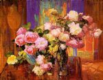 unknown artist bischoff roses painting