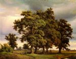 unknown artist crola oak trees painting-78305
