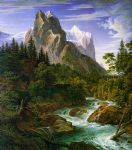 unknown artist the wetterhorn with the reichenbachtal paintings