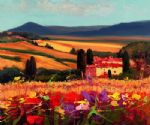 unknown artist tuscan landscape painting 84527