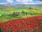 unknown artist tuscany poppies painting 84524