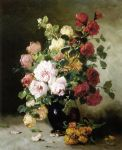 unknown artist untitled flower painting 84669