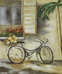 courtyard bicycle by various artists painting