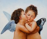 first kiss by various artists painting