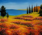 summer time field by various artists painting
