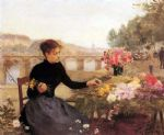 paris famous paintings - a parisian flower market by victor gabriel gilbert