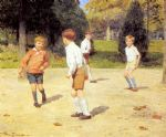 victor gabriel gilbert watercolor paintings - boys playing by victor gabriel gilbert