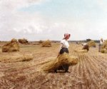 victor gabriel gilbert watercolor paintings - harvest by victor gabriel gilbert