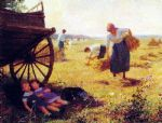 victor gabriel gilbert watercolor paintings - haymaking by victor gabriel gilbert