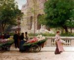 la place de la trinite by victor gabriel gilbert painting
