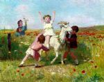 new tricks by victor gabriel gilbert painting